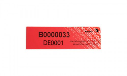 BC-Security Label - Zollplombe